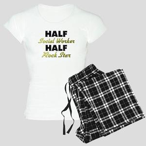 Half Social Worker Half Rock Star Pajamas