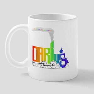 rainbow locomotive Mug