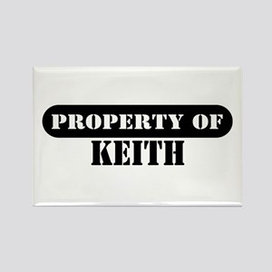 Property of Keith Rectangle Magnet