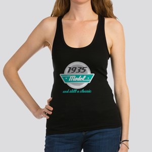 1935 Birthday Vintage Chrome Racerback Tank Top