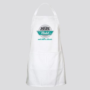 1935 Birthday Vintage Chrome Apron
