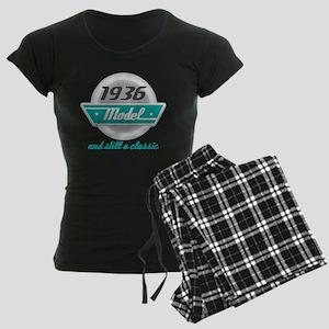 1936 Birthday Vintage Chrome Women's Dark Pajamas