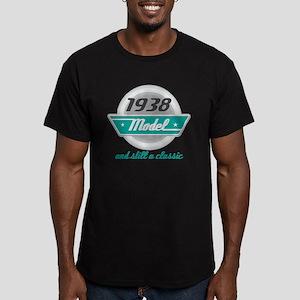 1938 Birthday Vintage Chrome Men's Fitted T-Shirt