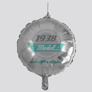 1938 Birthday Vintage Chrome Mylar Balloon