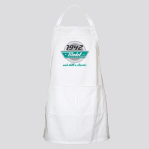 1942 Birthday Vintage Chrome Apron