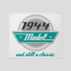1944 Birthday Vintage Chrome Throw Blanket