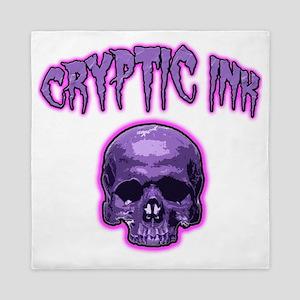 Cryptic Ink Purple Skull Queen Duvet