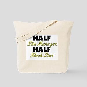 Half Site Manager Half Rock Star Tote Bag