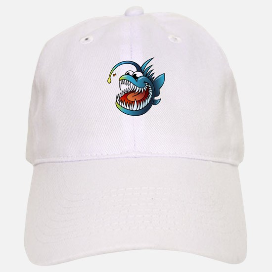 Cartoon Angler Fish Baseball Baseball Baseball Cap