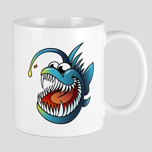 Cartoon Angler Fish Mugs