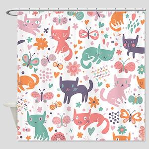 Cute Cats Shower Curtain