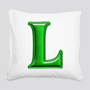 L Shiny Colors Square Canvas Pillow