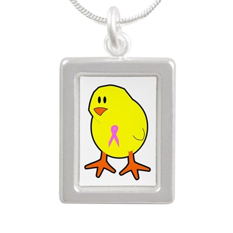 Pink ribbon chick Necklaces