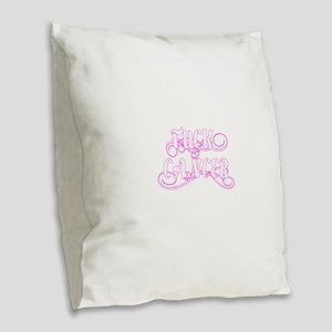 Fuck Cancer Burlap Throw Pillow