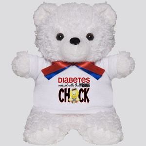 Diabetes Messed With The Wrong Chick Teddy Bear