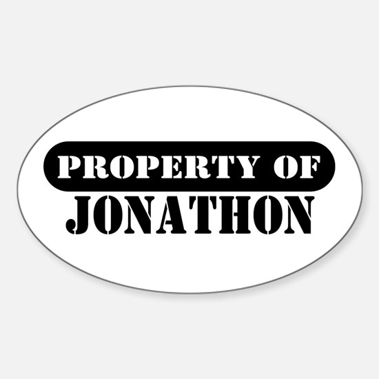 Property of Jonathon Oval Decal