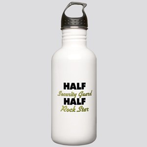 Half Security Guard Half Rock Star Water Bottle