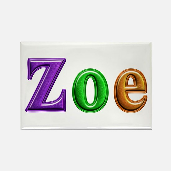 Zoe Shiny Colors Rectangle Magnet
