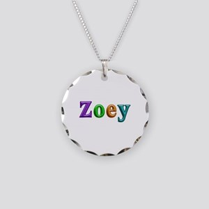 Zoey Shiny Colors Necklace Circle Charm