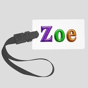 Zoe Shiny Colors Large Luggage Tag