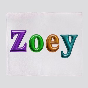 Zoey Shiny Colors Throw Blanket