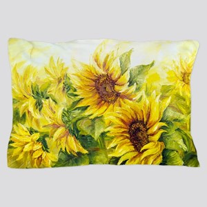Sunflowers Oil Painting Pillow Case