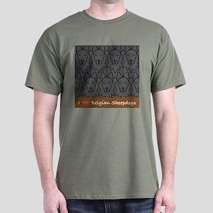 I Love Belgian Sheepdogs Dark T-Shirt