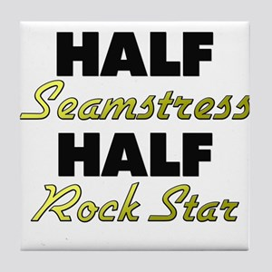 Half Seamstress Half Rock Star Tile Coaster