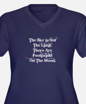 The sky is not the limit ... (white) Plus Size T-S