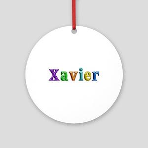 Xavier Shiny Colors Round Ornament