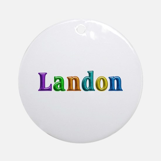 Landon Shiny Colors Round Ornament