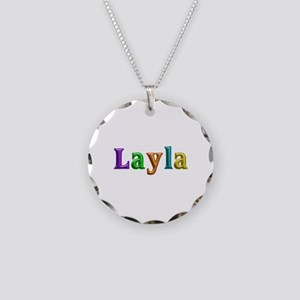 Layla Shiny Colors Necklace Circle Charm