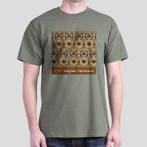 I Love Belgian Tervurens Dark T-Shirt