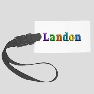 Landon Shiny Colors Large Luggage Tag