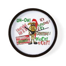 Funny Christmas Hump Day Camel Wall Clock