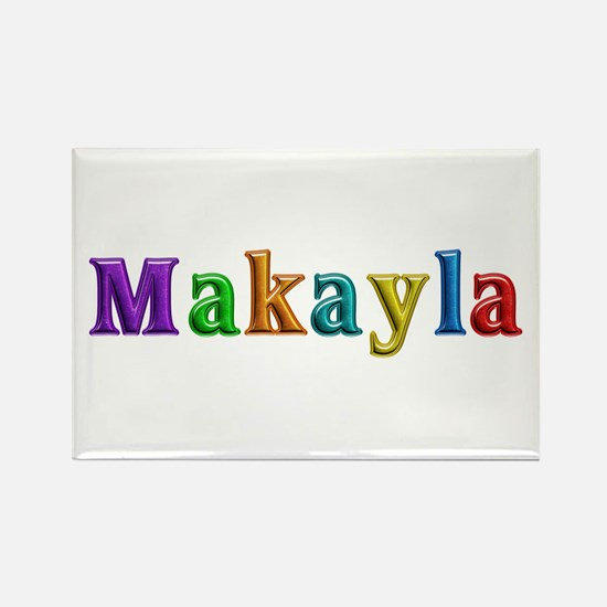 Makayla Shiny Colors Rectangle Magnet