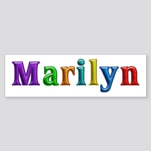 Marilyn Shiny Colors Bumper Sticker
