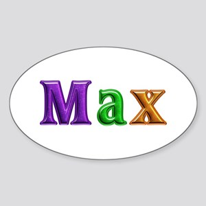 Max Shiny Colors Oval Sticker