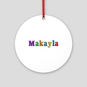 Makayla Shiny Colors Round Ornament