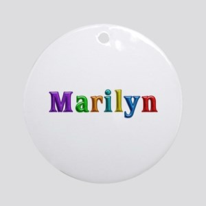 Marilyn Shiny Colors Round Ornament