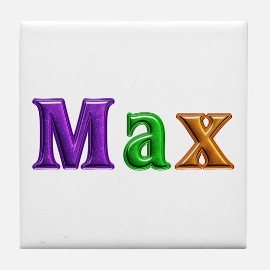 Max Shiny Colors Tile Coaster
