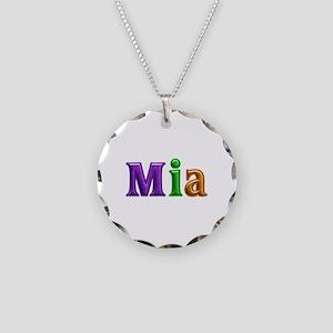 Mia Shiny Colors Necklace Circle Charm