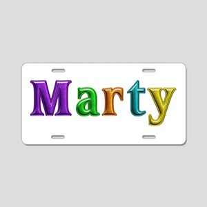 Marty Shiny Colors Aluminum License Plate