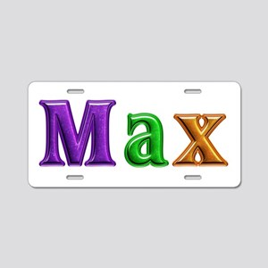 Max Shiny Colors Aluminum License Plate