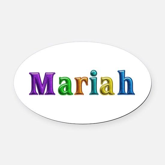 Mariah Shiny Colors Oval Car Magnet