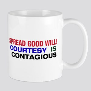 Courtesy is Contagious Mug