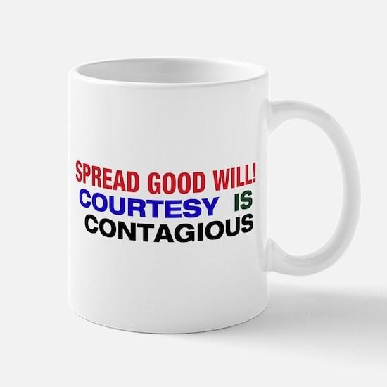 Courtesy is Contagious Mug