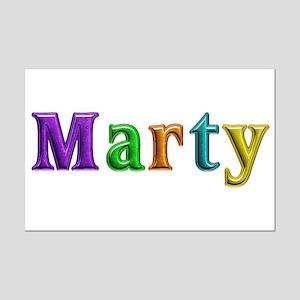 Marty Shiny Colors Mini Poster Print