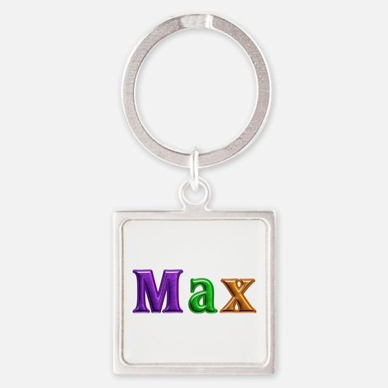 Max Shiny Colors Square Keychain