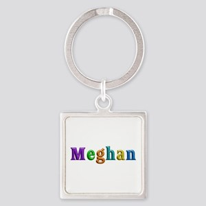 Meghan Shiny Colors Square Keychain